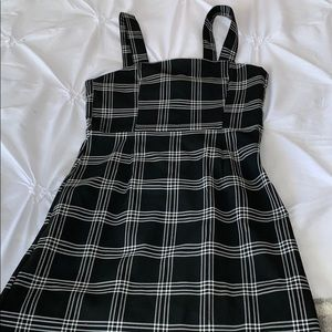 Black and white h&m overall dress size 2